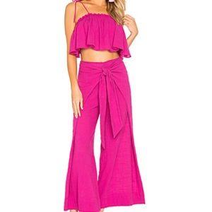 Free People Tropic Babe set in dark pink